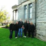 Ohio State Paranormal Society at the Ohio State Reformatory in Mansfield, Ohio in May, 2014 (From Left to Right: Tami Beckel, Julie Starrett, Patrick Starrett, Bobbi Licitri, Amy Cole and Sherry Morgan)